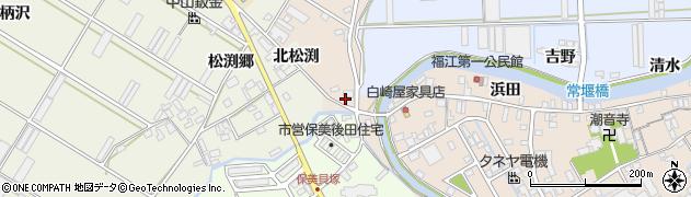 愛知県田原市福江町(葭原田)周辺の地図