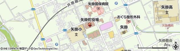 岡山県小田郡矢掛町周辺の地図