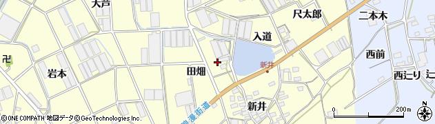 愛知県田原市高松町(田畑)周辺の地図