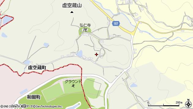 〒630-8412 奈良県奈良市虚空蔵町の地図