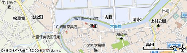 愛知県田原市福江町(浜田)周辺の地図