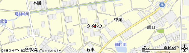 愛知県田原市高松町(タイトウ)周辺の地図