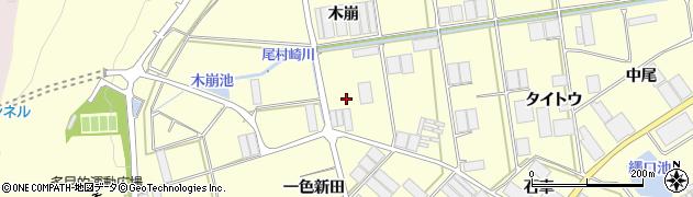 愛知県田原市高松町(木崩)周辺の地図