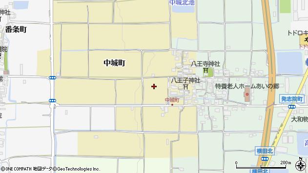 〒639-1118 奈良県大和郡山市中城町の地図