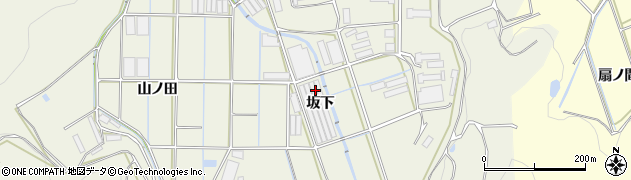 愛知県田原市村松町(坂下)周辺の地図