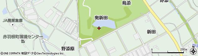愛知県田原市赤羽根町(奥新田)周辺の地図