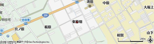 愛知県田原市折立町(東原畑)周辺の地図