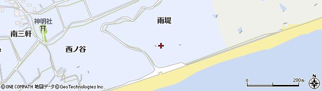 愛知県田原市大草町(雨堤)周辺の地図