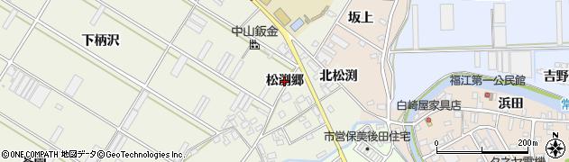 愛知県田原市中山町(松渕郷)周辺の地図