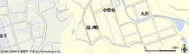 愛知県田原市八王子町(扇ノ間)周辺の地図