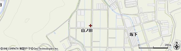 愛知県田原市村松町(山ノ田)周辺の地図