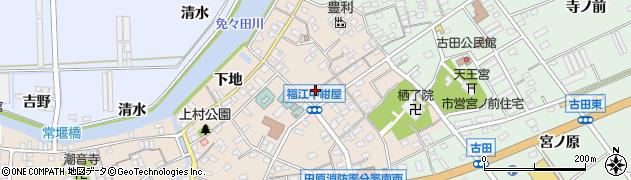 愛知県田原市福江町(中紺屋瀬古)周辺の地図