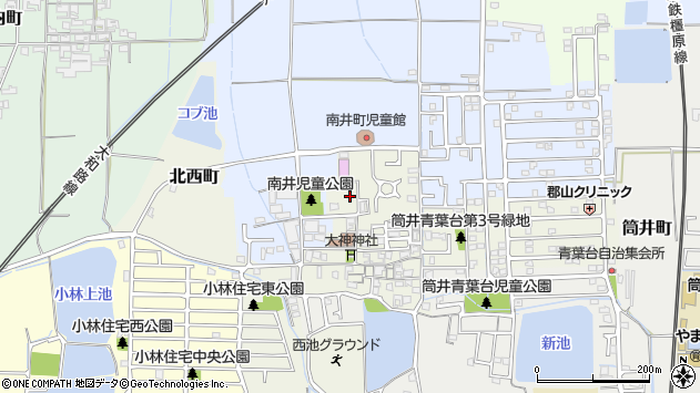 〒639-1024 奈良県大和郡山市南井町の地図