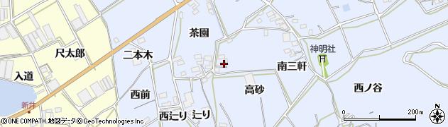 愛知県田原市大草町(高砂)周辺の地図