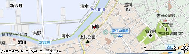 愛知県田原市福江町(下地)周辺の地図