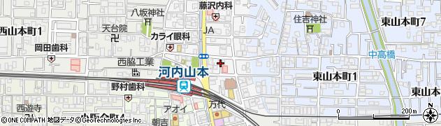 大阪府八尾市山本町周辺の地図