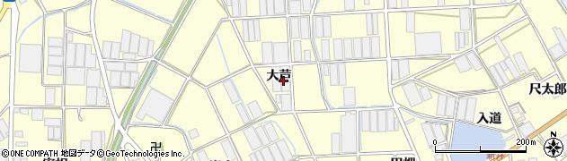 愛知県田原市高松町(大芦)周辺の地図