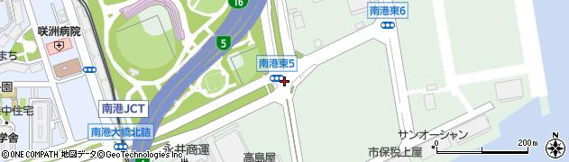 南港東5周辺の地図