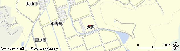 愛知県田原市八王子町(大沢)周辺の地図
