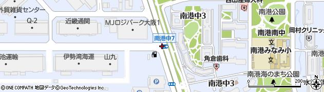 南港中7周辺の地図