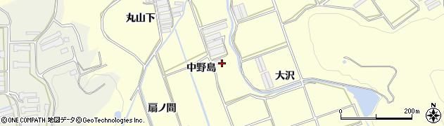 愛知県田原市八王子町(中野島)周辺の地図