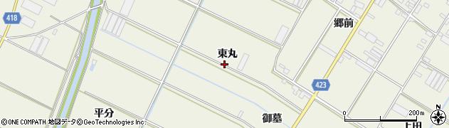 愛知県田原市中山町(東丸)周辺の地図