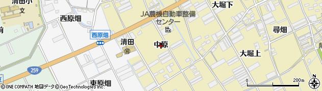 愛知県田原市高木町(中原)周辺の地図