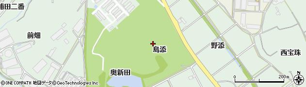 愛知県田原市赤羽根町(島添)周辺の地図