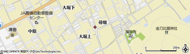 愛知県田原市高木町(尋畑下)周辺の地図