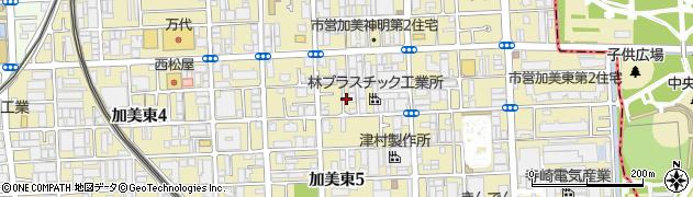 大阪府大阪市平野区加美東周辺の地図