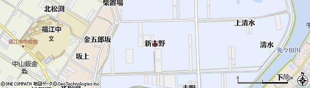 愛知県田原市向山町(新吉野)周辺の地図