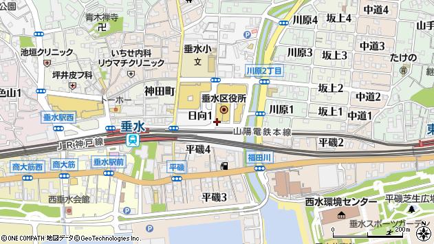 〒655-0893 兵庫県神戸市垂水区日向の地図