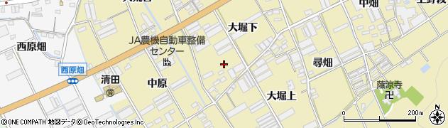 愛知県田原市高木町周辺の地図