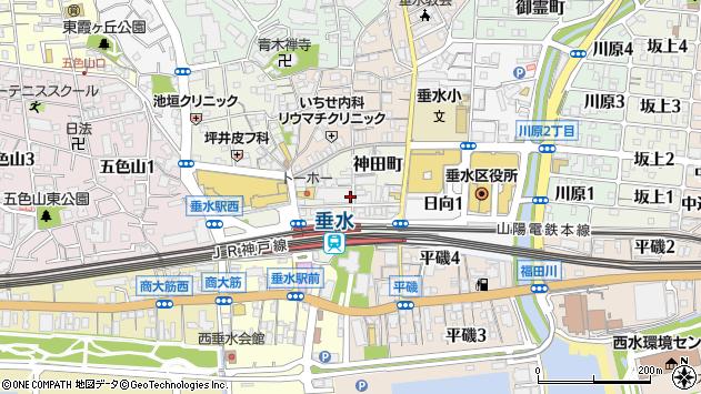 〒655-0027 兵庫県神戸市垂水区神田町の地図