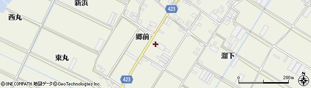 愛知県田原市中山町(郷前)周辺の地図
