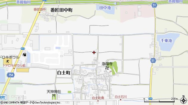 〒639-1112 奈良県大和郡山市白土町の地図