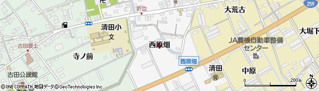 愛知県田原市折立町(西原畑)周辺の地図