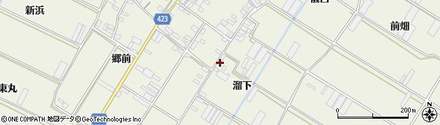 愛知県田原市中山町(溜下)周辺の地図