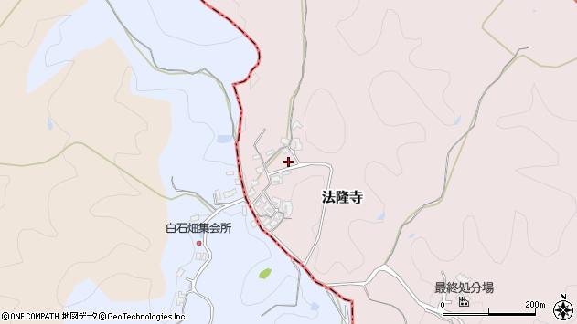 〒636-0116 奈良県生駒郡斑鳩町法隆寺の地図
