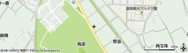愛知県田原市赤羽根町(野添)周辺の地図