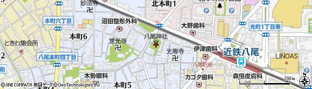 八尾神社周辺の地図