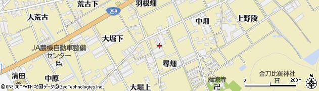 愛知県田原市高木町(尋畑)周辺の地図