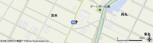 愛知県田原市中山町(清水)周辺の地図