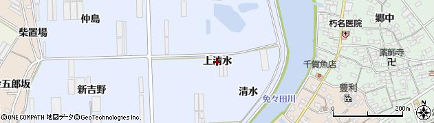 愛知県田原市向山町(上清水)周辺の地図