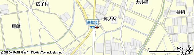 愛知県田原市高松町(坪ノ内)周辺の地図