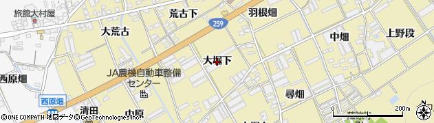 愛知県田原市高木町(大堀下)周辺の地図
