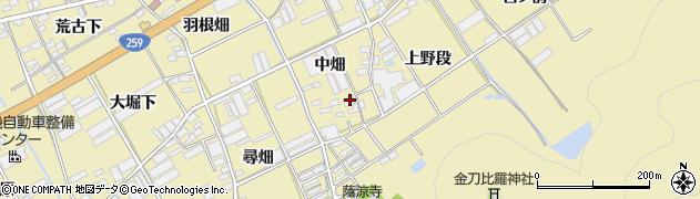 愛知県田原市高木町(中畑)周辺の地図