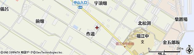 愛知県田原市中山町(作道)周辺の地図