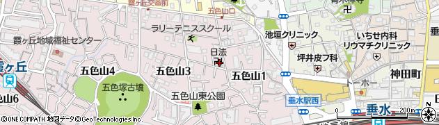 日法寺周辺の地図