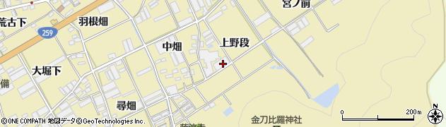愛知県田原市高木町(上野段)周辺の地図